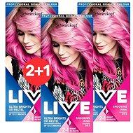 SCHWARZKOPF LIVE Color XXL 93 Shocking Pink 3× 50 ml - Barva na vlasy