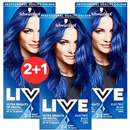 SCHWARZKOPF LIVE Color XXL 95 Electric Blue 3× 50 ml