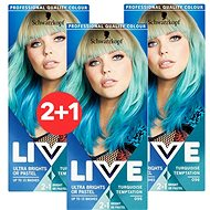 SCHWARZKOPF LIVE Color XXL 96 Turquoise Temptation 3× 50 ml - Barva na vlasy