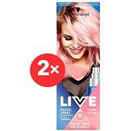 SCHWARZKOPF LIVE Pastel Spray Candy Cotton 2× 125 ml