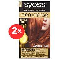 SYOSS Oleo Intense 6-76 Teplý měděný 2× 50 ml - Barva na vlasy