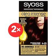 SYOSS Oleo Intense 4-23 Burgundská červeň 2× 50 ml - Barva na vlasy