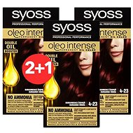 SYOSS Oleo Intense 4-23 Burgundská červeň 3× 50 ml - Barva na vlasy