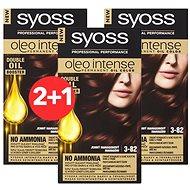 SYOSS Oleo Intense 3-82 Jemný mahagonový 3× 50 ml - Barva na vlasy
