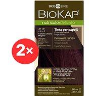 BIOKAP Nutricolor Delicato Mahogany Light Brown Gentle Dye 5.50 (2× 140 ml)