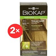 BIOKAP Nutricolor Delicato Natural Medium Blond Gentle Dye 7.0 (2× 140 ml)