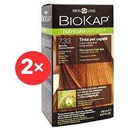 BIOKAP Nutricolor Extra Delicato +  Golden Blond Wheat Gentle Dye 7.33 (2× 140 ml)