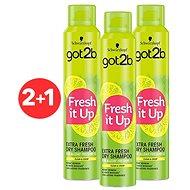 SCHWARZKOPF GOT2B Fresh it up Extra Fresh 3× 200 ml - Suchý šampon