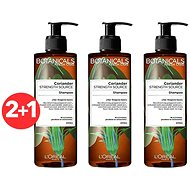 ĽORÉAL PARIS Botanicals Fresh Care Coriander Strength Cure 3 x 400 ml - Přírodní šampon