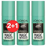 ĽORÉAL PARIS Magic Retouch 2 Dark Brown 3 × 75 ml