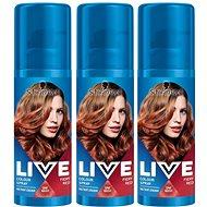 SCHWARZKOPF LIVE Colour Sprays Fiery Red 3× 120 ml - Barevný sprej na vlasy