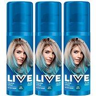 SCHWARZKOPF LIVE Colour Sprays Blue Twist 3× 120 ml - Barevný sprej na vlasy