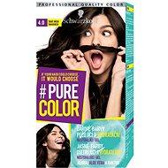 SCHWARZKOPF PURE COLOR 4.0 Tmavě hnědá 60 ml - Barva na vlasy