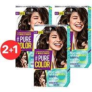 SCHWARZKOPF PURE COLOR 6.0 Pražené kakao 3× 60 ml - Barva na vlasy