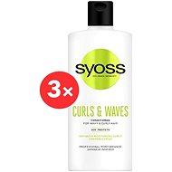 SYOSS Curls & Waves Conditioner 3× 500 ml - Kondicionér