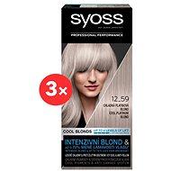 SYOSS Blond Cool Blonds 12-59 Chladná platinová blond 3× 50 ml - Zesvětlovač vlasů