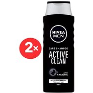 NIVEA Men Active Clean Care Shampoo 2× 400 ml - Šampon pro muže