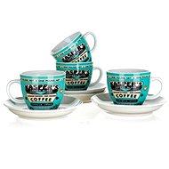 BANQUET Sada šálků 4 ks COFFEE A11738 - Šálek s podšálkem