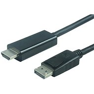 PremiumCord DisplayPort - HDMI propojovací 2m černý - Video kabel