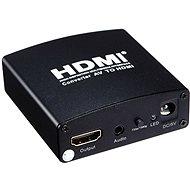 PremiumCord převodník AV signálu a zvuku na HDMI - Adaptér