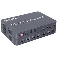 PremiumCord HDMI matrix switch 4:2 s audiem, 4Kx2K a FULL HD 1080p - Switch