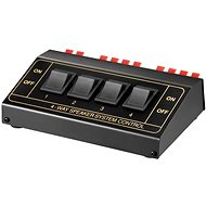 OEM Přepínač reproduktorů 4:1, stereo, manuální