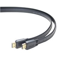 PremiumCord HDMI High Speed propojovací 1m, plochý - Video kabel
