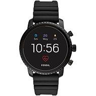 Fossil Explorist HR Black Silicone - Chytré hodinky