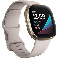 Fitbit Sense - Lunar White/Soft Gold Stainless Steel - Chytré hodinky