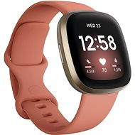 Fitbit Versa 3 - Pink Clay/Soft Gold Aluminum - Chytré hodinky