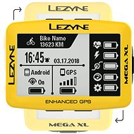 Lezyne Mega XL GPS Yellow - Cyklocomputer