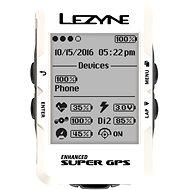 Lezyne Mega C GPS White - Cyklocomputer