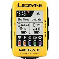 Lezyne Mega C GPS Yellow - Bike Computer