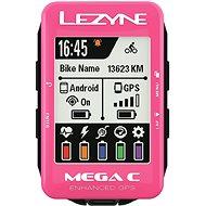 Lezyne Mega C GPS Pink - Bike Computer