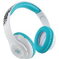 Gogen HBTM 42 STREET B bílo-modrá - Sluchátka s mikrofonem