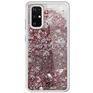 White Diamonds Sparkle Case pro Galaxy S20+ - růžovo zlaté srdce - Kryt na mobil