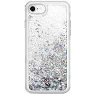 White Diamonds Sparkle Case pro Apple iPhone 8 / 7 / 6 / 6S - stříbrné hvězdy