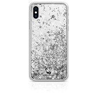 White Diamonds Sparkle pro Apple iPhone XS /  X  – stříbrné hvězdy - Pouzdro na mobil