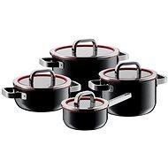 WMF 517405290 FUSIONTEC Functional černá 4ks - Sada nádobí