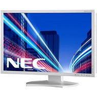 "23"" NEC MultiSync LED P232W stříbrno-bílý - LCD monitor"
