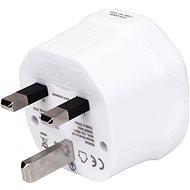 Cestovní adaptér Wontravel WL-07 - EU, AUS, US -> UK; bílý - Cestovní adaptér