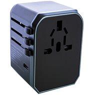 Wontravel JY-305A - UK, EU, US -> EU, UK, US; 4x USB, USB-C - Cestovní adaptér