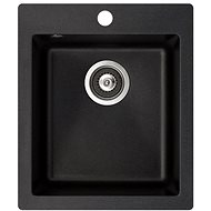 AQUASANITA Simplex 425 Black metallic - Granitový dřez