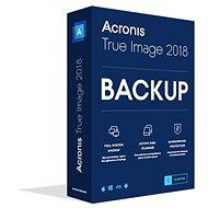 Acronis True Image 2018 CZ pro 1 PC (elektronická licence) - Zálohovací software