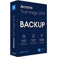 Acronis True Image 2018 CZ Upgrade pro 3 PC (elektronická licence) - Zálohovací software