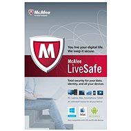 McAfee LiveSafe na 12 měsíců (všechny jazykové verze) - Elektronická licence