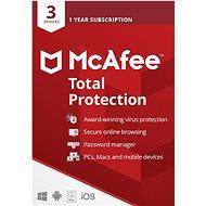 McAfee Total Protection pro 3 zařízení na 12 měsíců (elektronická licence) - Antivirus