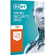 ESET Family Security Pack for 3 computers and 3 mobile devices for 12 months (electronic license) - Security Software