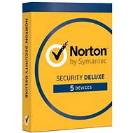 Symantec Norton Security Deluxe 3.0 CZ, 1 uživatel, 5 zařízení, 18 měsíců (elektronická licence) - Elektronická licence
