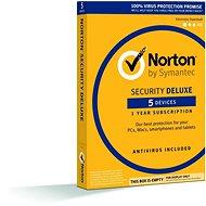 Symantec Norton Security Deluxe, 1 uživatel, 5 zař, 12 měs, 3 LICENCE ZA CENU 2  (elektronická licen - Elektronická licence